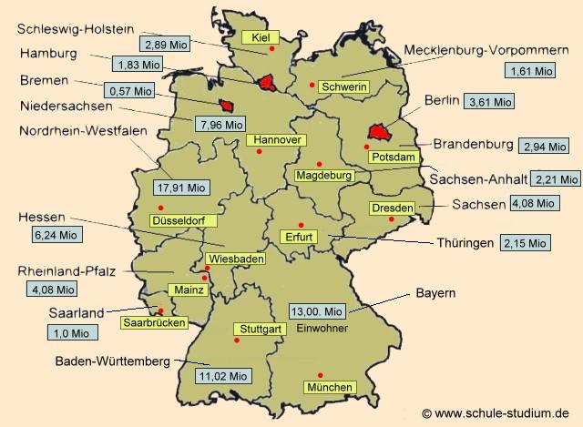 Bundesrepublik Deutschland Erdkunde Unterrichtsmaterial Die