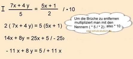 lösen gleichungen mehrere unbekannte