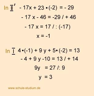 Lineare Gleichungssystem mit 3 Variablen- Übungsaufgaben mit ...