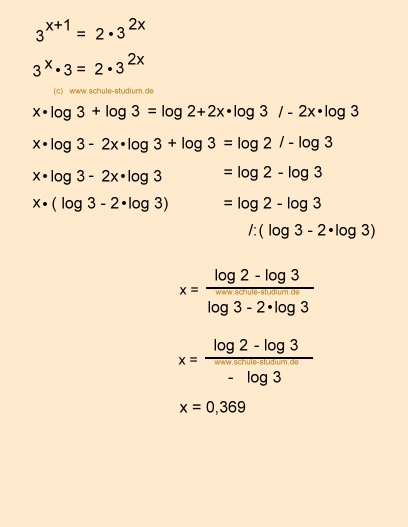 Natürlicher Logarithmus Berechnen : logarithmen exponentialgleichungen berechnen 10 klasse realschule gymnasium ~ Themetempest.com Abrechnung