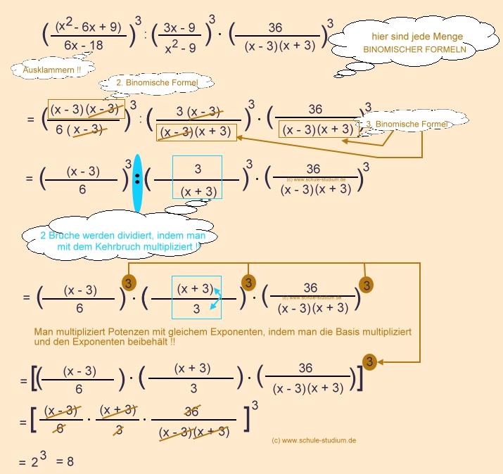 Potenzen und Potenzgesetze. Potenzen mit binomischer Formel!!