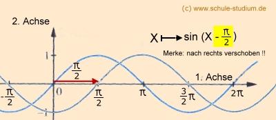 Sinus und Kosinusfunktionen. Phasenverschiebung, Amplitude ...