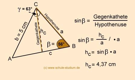 dreieck abc berechnen