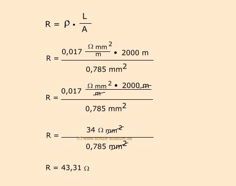 leitungswiderstand berechnen elektroinstallation