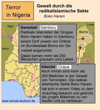 Nigeria. Mädchen Verschleppung aus Chibok(Borno) durch Sekte Boko Haram
